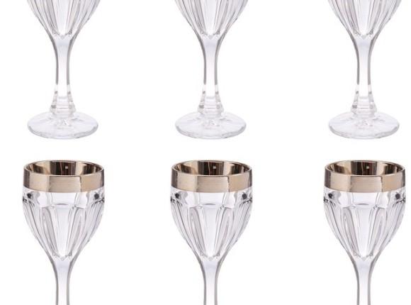 Набор элитных бокалов для вина Linea Argenti